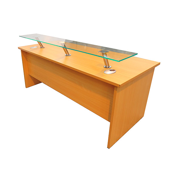 Reception Desk With Front Perspex Shelf