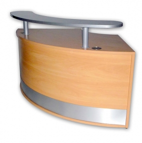 Reception Curved Unit c/w Shelf