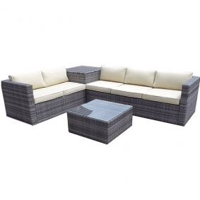 5 Seater Outdoor Rattan Corner Set