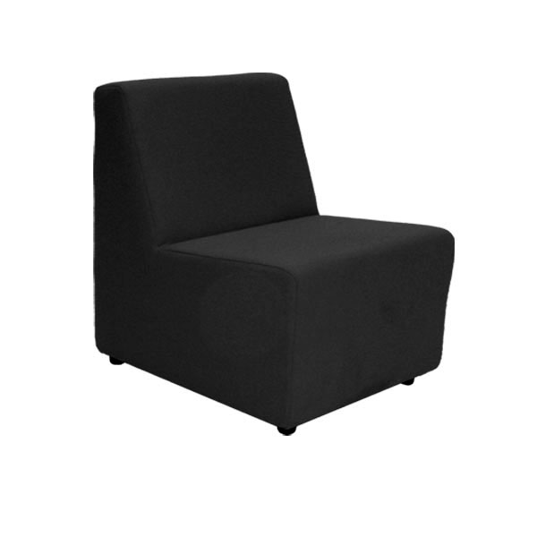 Black Fabric Unit Chair
