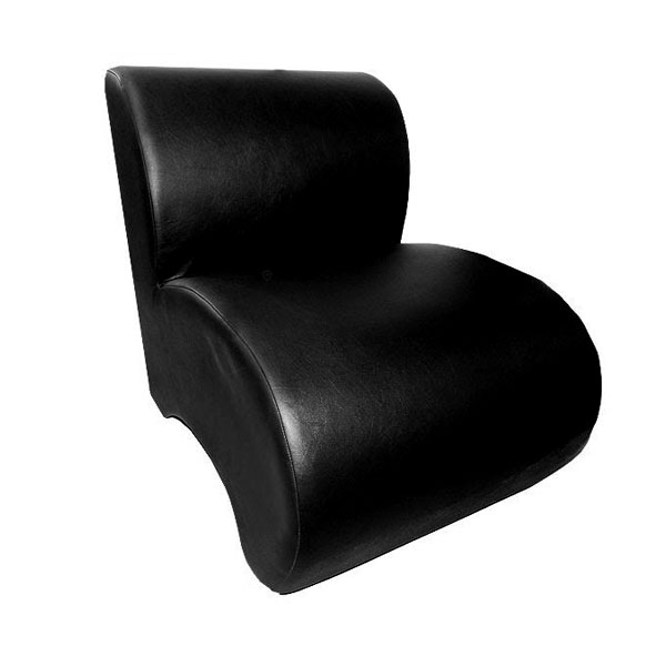 Black Leather Unit Chair