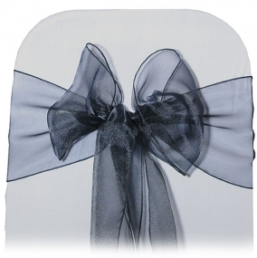 Black Organza Chair Tie