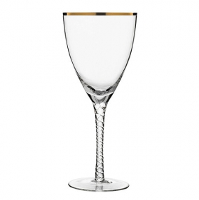 Gold Rim Red Wine Glass