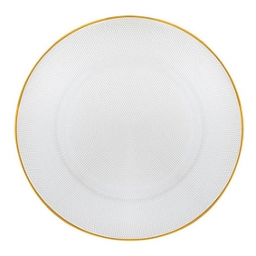 Gold Rim Glass Plate