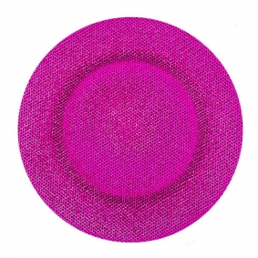 Cerise Pink Glass Charger Plate