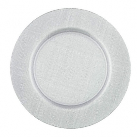 Silver Glass Charger Plate