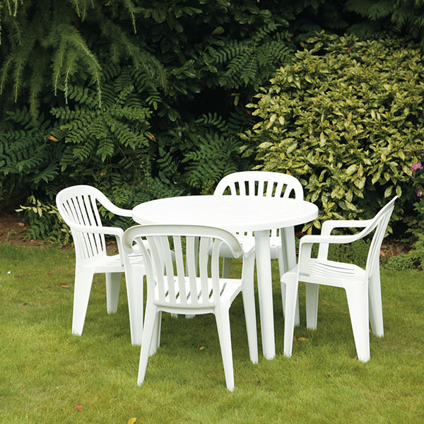cleaning white plastic outdoor furniture