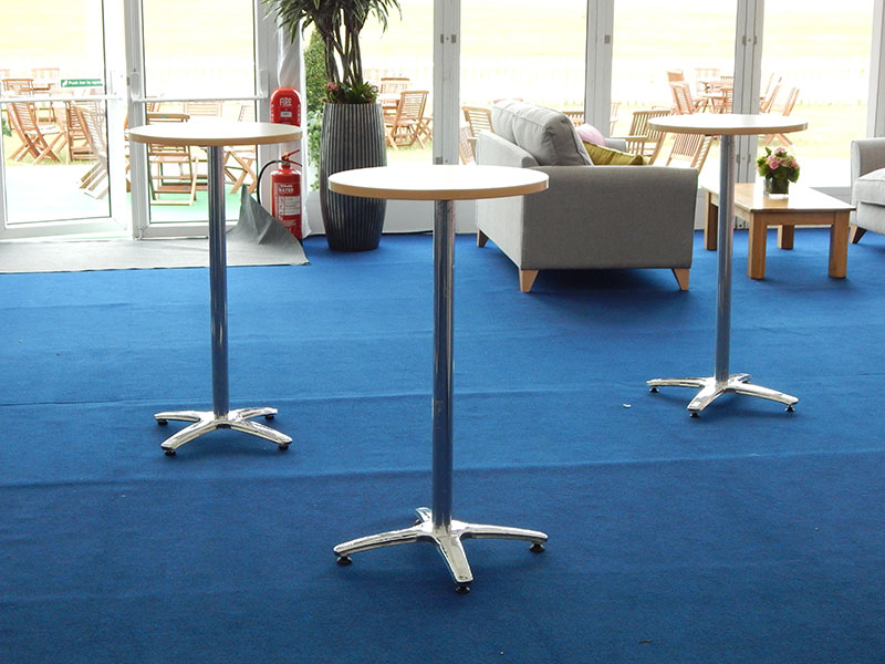 Beech Poseur Table Hire