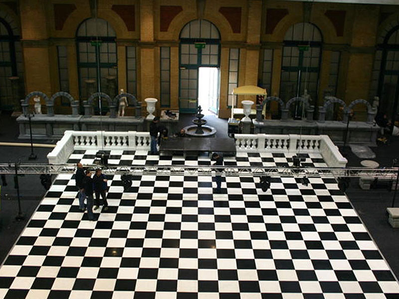Black & White Dance Floor Interlocking Panels
