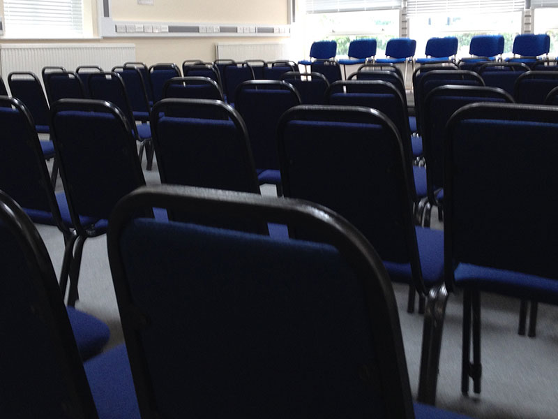 Blue Conference Chairs for Hire