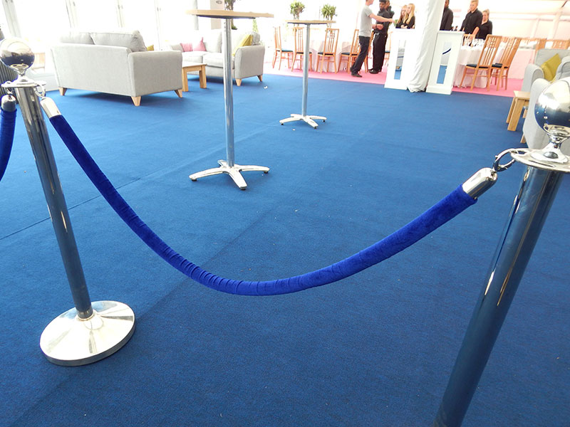 Blue VIP Barrier Hire