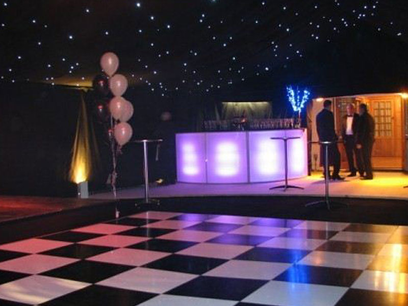 Chequered Black & White Dance Floor Hire