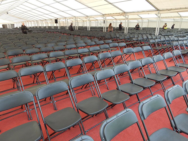 Folding chairs from Event Hire UK