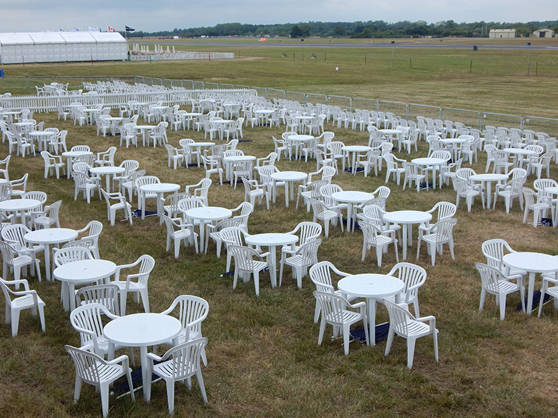plastic garden furniture hire event hire uk