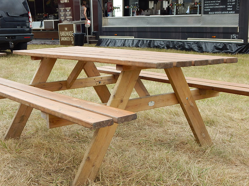 Trestle Picnic Bench Hire