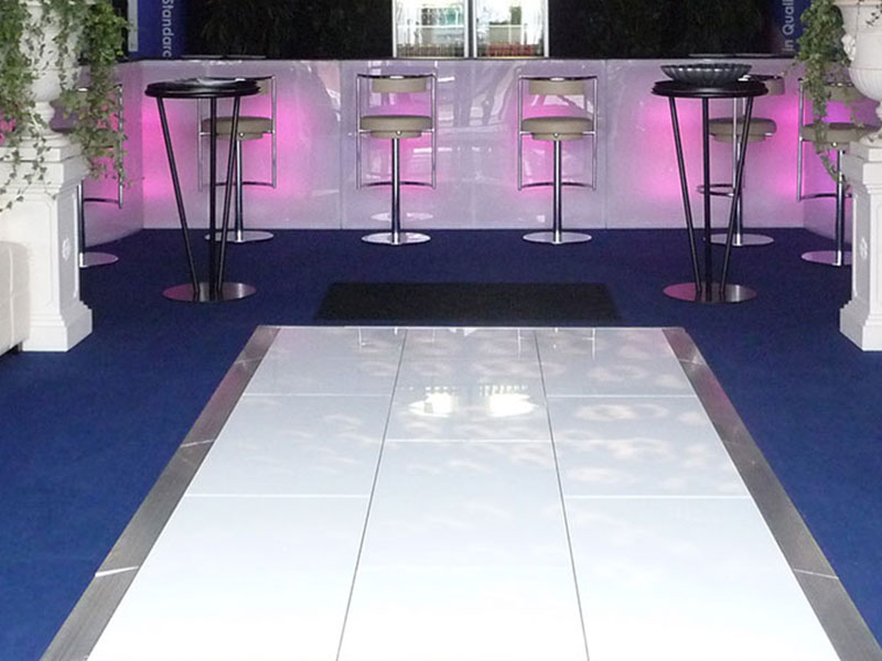 White Dance Floor Hire Interlocking Panels