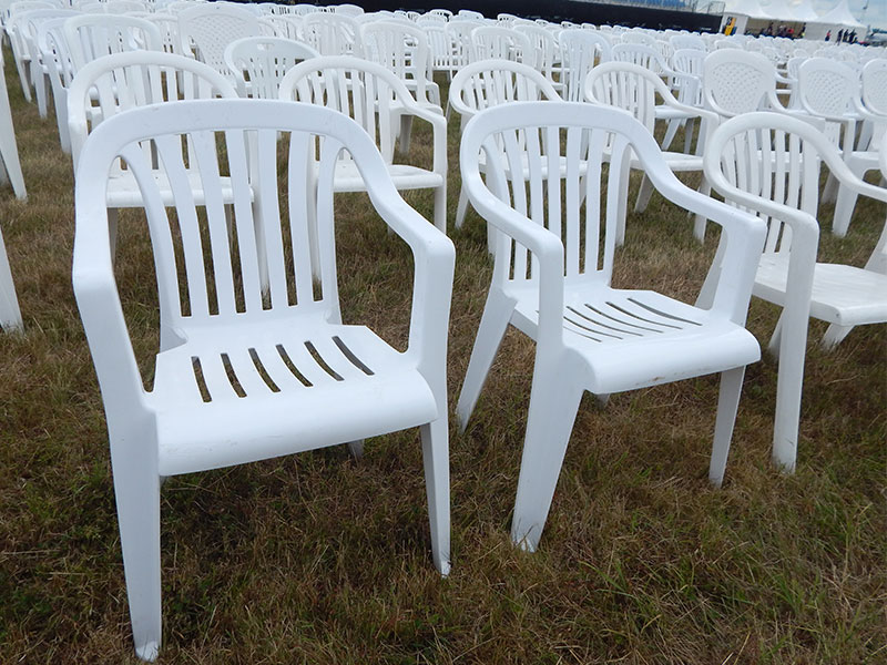 White Patio Chairs For Hire