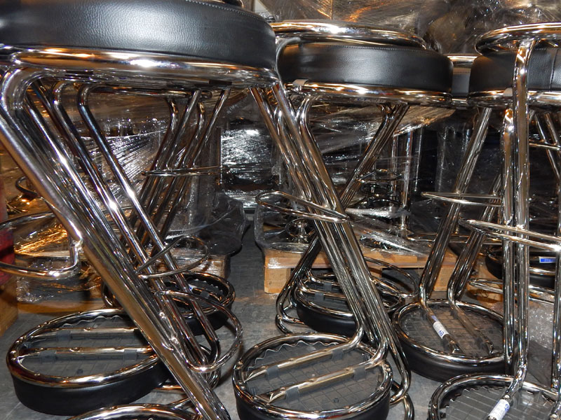 Black Z Bar Stools Hire