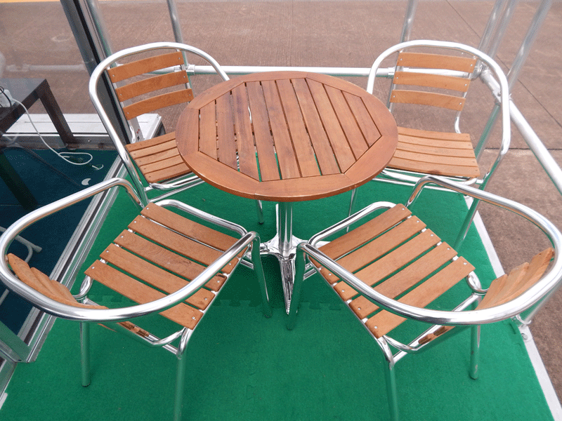 Teak & Aluminium Outdoor Patio Furniture Hire