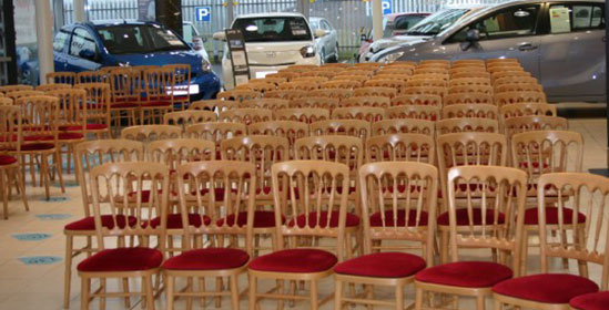 Chair Hire For Product Launches from Event Hire UK