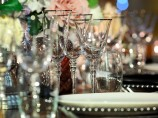 Silver Rim Glass Hire