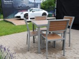 Teak & Aluminium Patio Set Hire