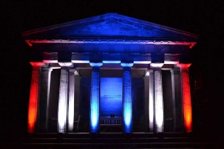 Exterior venue lighting hire