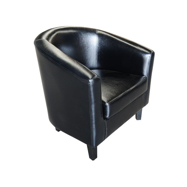 Black Leather Club Chair