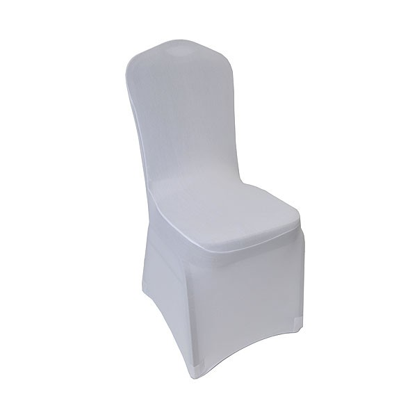 White Stretch Chair Cover Low Arch