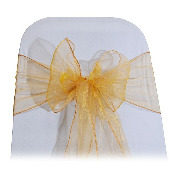 Gold Organza Chair Tie