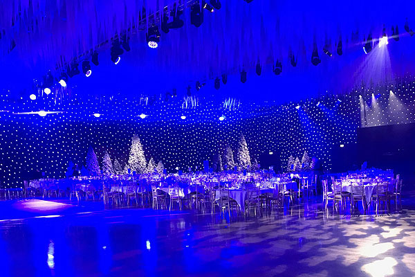 Furniture hire for arena Christmas party nights