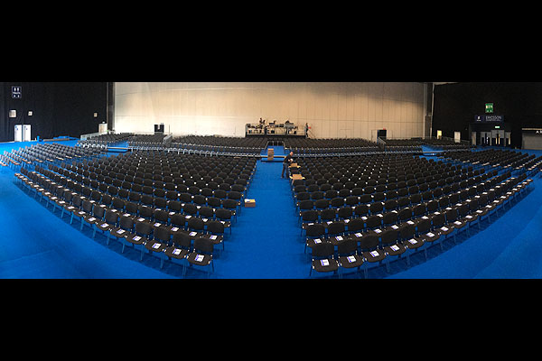 1,200 linking ISO chairs set-up at Ricoh Arena