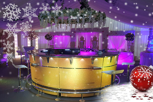Mobile bar hire for Christmas & New Year parties