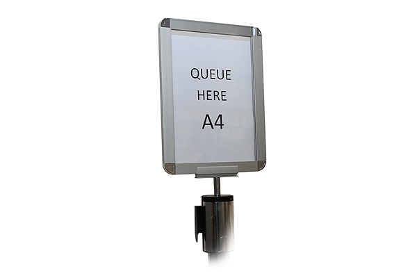 *NEW* A4 sign holder for chrome Tensabarriers