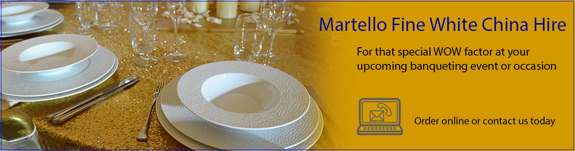 Hire Martello Fine White China Crockery