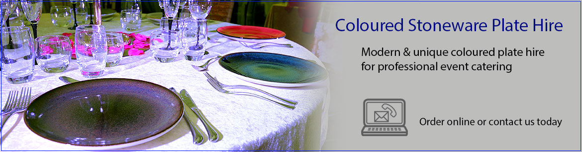 Hire Coloured Stoneware Plates