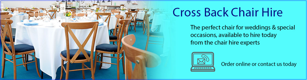 Hire Cross Back Wedding Chairs