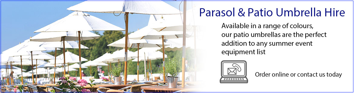 Hire Parasol & Patio Umbrellas