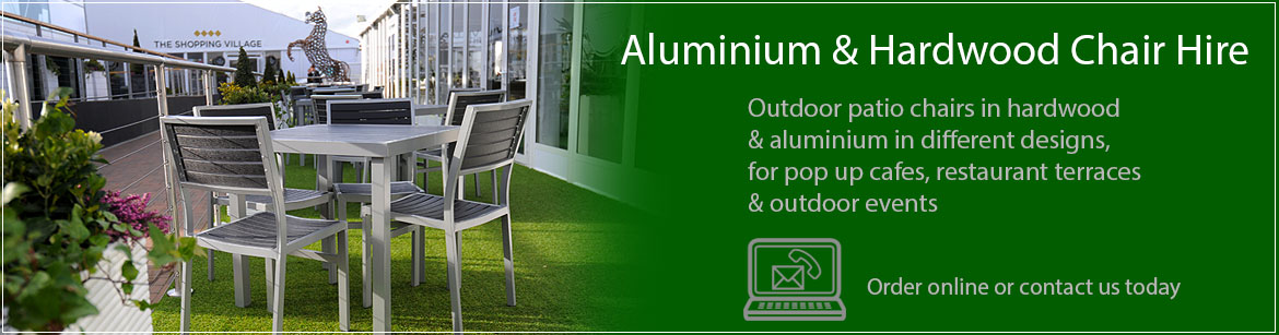 Hire Aluminium & Hardwood Chairs