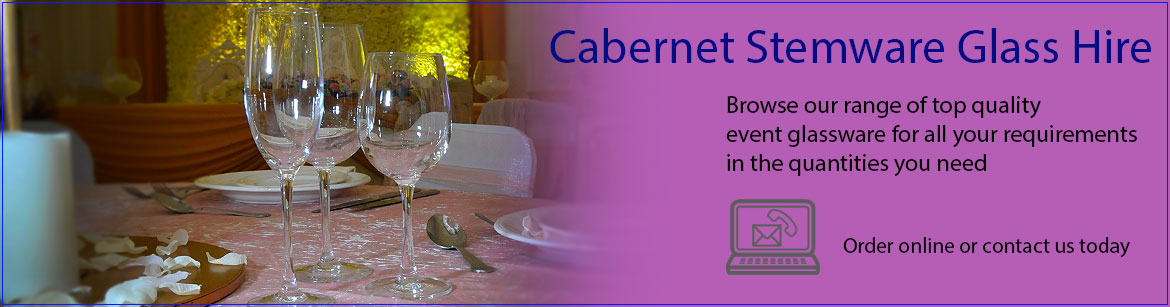 Hire Cabernet Wine Glasses & Champagne Glasses