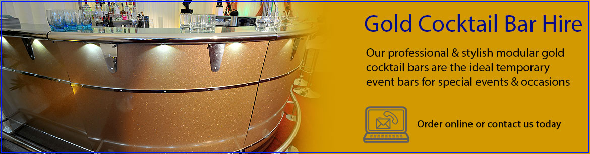 Hire Gold Cocktail Bars