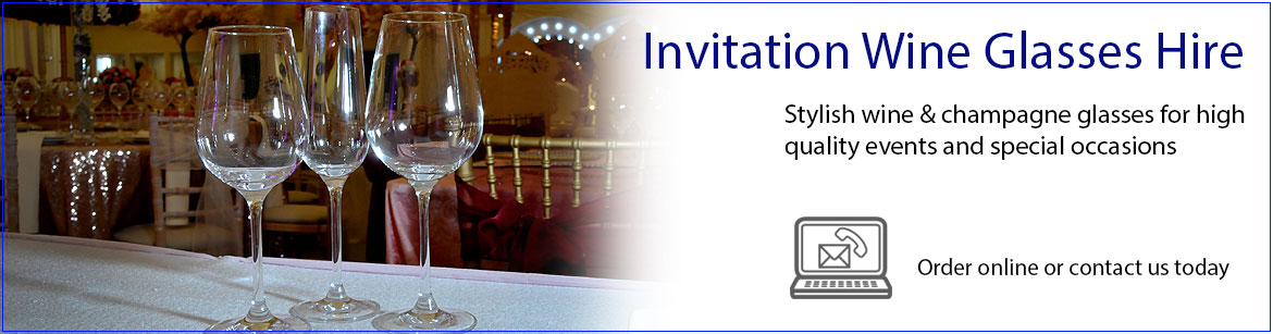 Hire Invitation Wine Glasses & Champagne Flutes