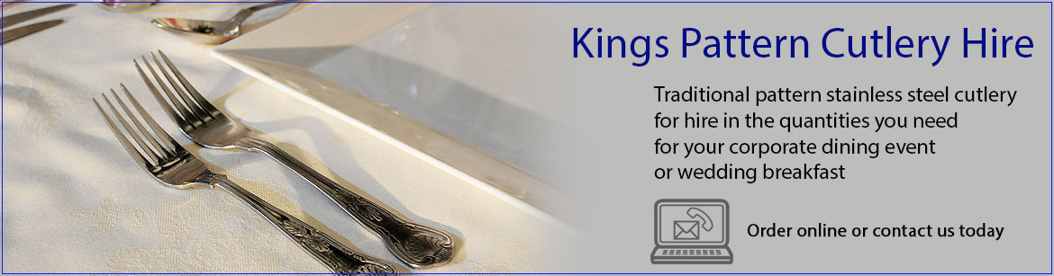 Hire Kings Stainless Steel Cutlery