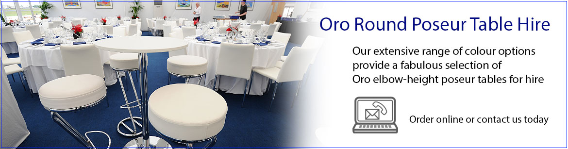 Hire Oro Round Poseur Tables