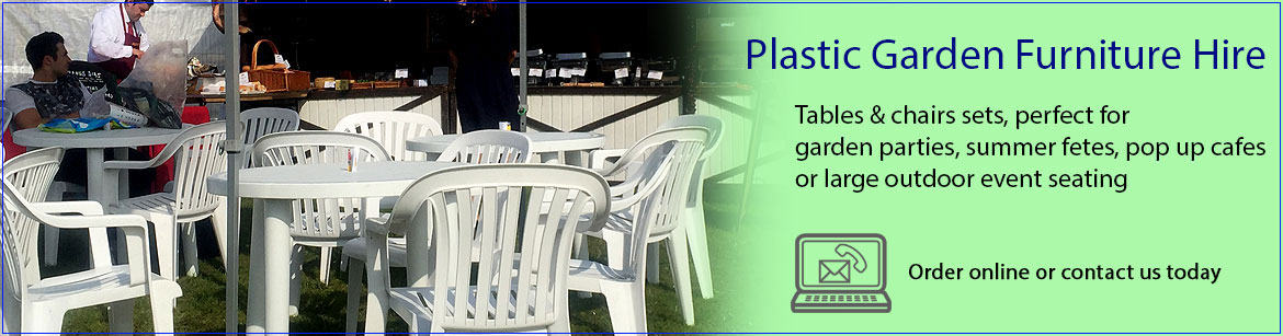 Hire Plastic Garden Furniture