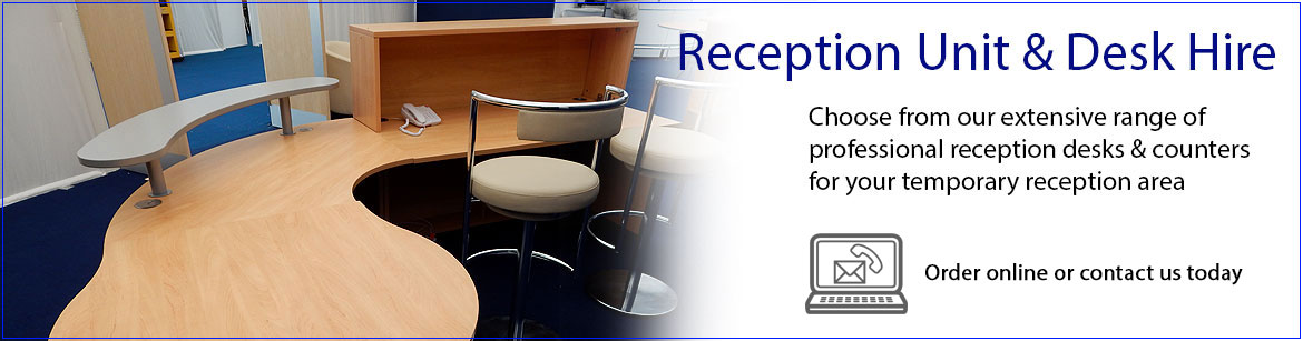 Hire Reception Desks & Units