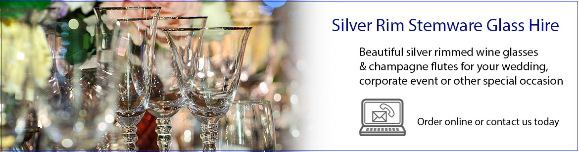 Hire Silver Rimmed Wine & Champagne Glasses