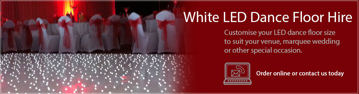Hire White LED Dance Floors