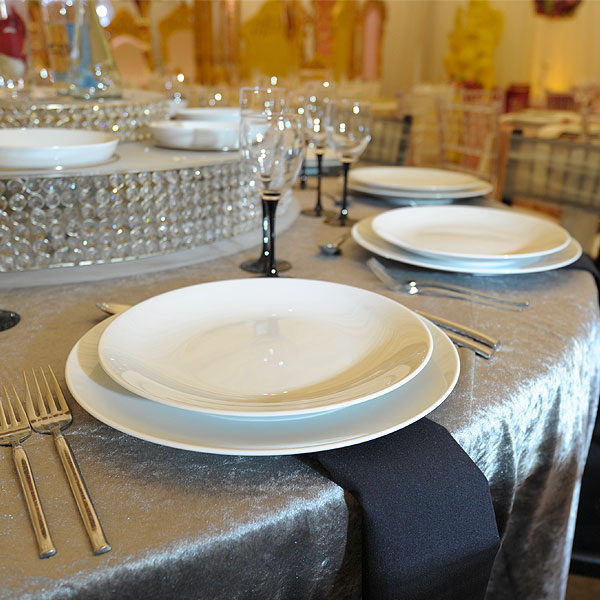Fine China Coupe Plates Hire London