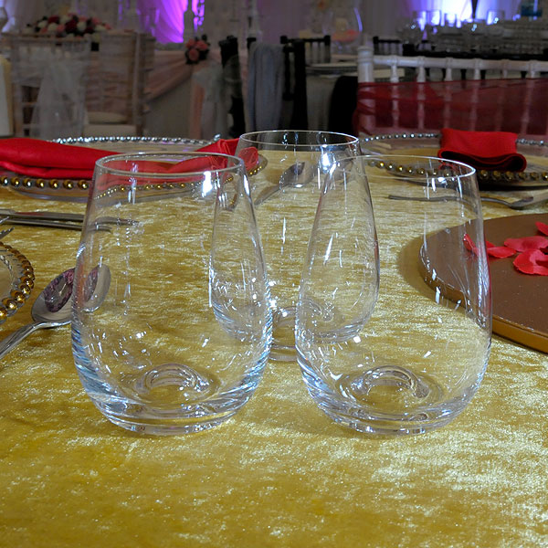 Stemless Wine Glass Hire London